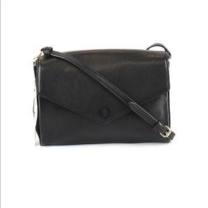 NWT Sandro Pola Black Leather Crossbody Bag